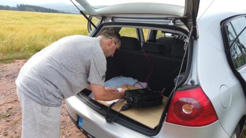Vysilání z kufru auta